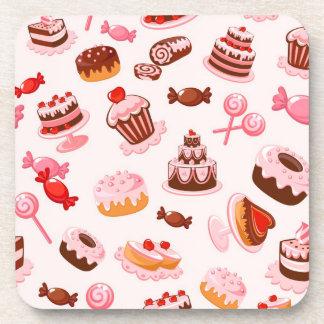 Sweet background coasters