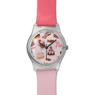 Sweet background wrist watch