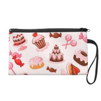 Sweet background wristlet purses
