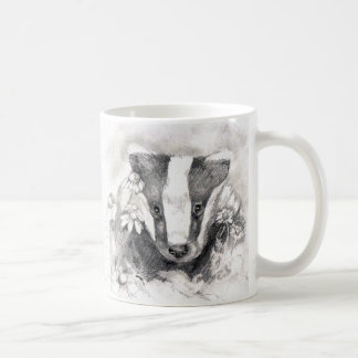Sweet Badger Sketch Mug