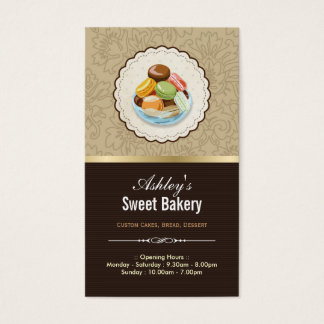 Sweet Bakery Boutique - French Parisian Macaroons Business Card