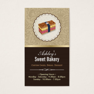 Sweet Bakery Boutique - Loaf Looking Cake Business Card
