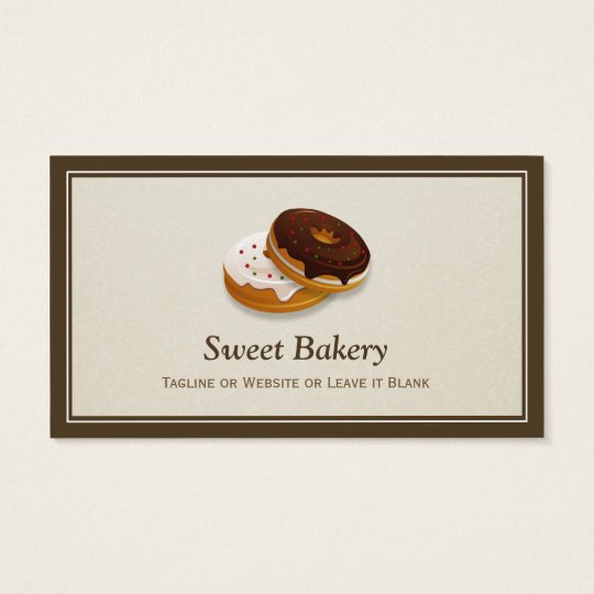 Sweet Bakery Doughnuts Baker - Simple Professional Business Card