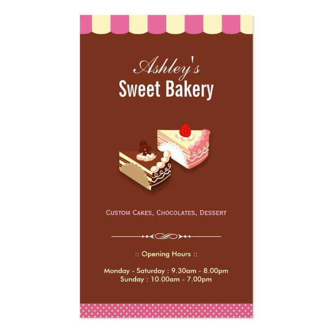 Sweet bakery shop custom cakes chocolates pastry business card sweet bakery shop custom cakes chocolates pastry business card templates wajeb Choice Image