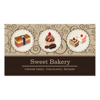 Sweet Bakery Store Custom Cakes Chocolates Dessert Pack Of Standard Business Cards