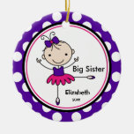 Sweet Ballerina Big Sister Christmas Ornament