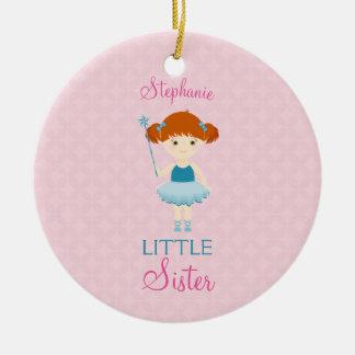 Sweet Ballerina Little Sister Christmas Ornament