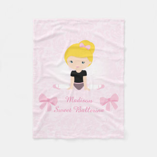 Sweet Ballerina Personalized Fleece Blanket