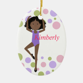 Sweet Ballerina Purple and Pink Christmas Ornament