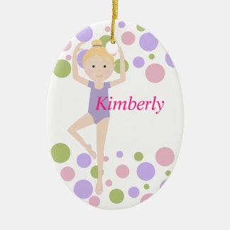 Sweet Ballerina Purple and Pink Christmas Ornament