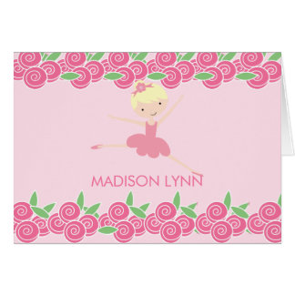 Sweet Ballerina Tutu Thank You Note Note Card