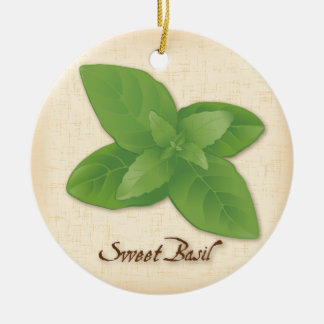 Sweet Basil Herb Christmas Ornament