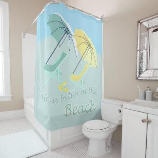 Sweet Beach House Better Life Shower Curtain
