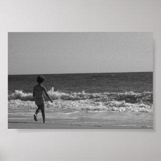 Sweet beach scene poster.... poster