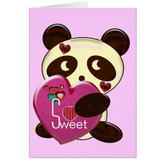 Sweet Bear Valentine with Hearts Greeting Card