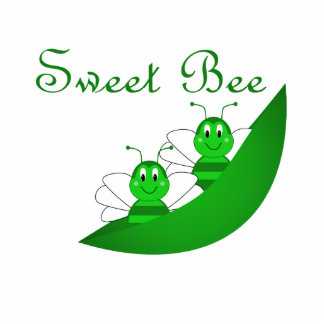 Sweet Bee Twins Ornament Photo Sculpture Decoration
