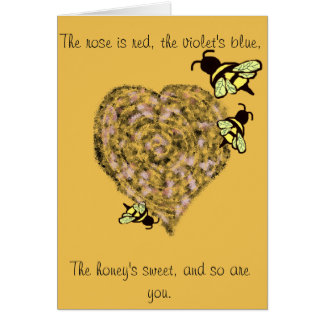 Sweet Bee Valentine Card