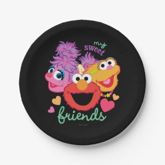 Sweet Best Friends Characters 7 Inch Paper Plate