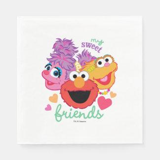 Sweet Best Friends Characters Disposable Serviettes