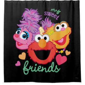 Sweet Best Friends Characters Shower Curtain