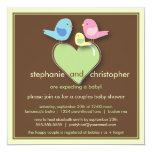 Sweet Bird Family Couples Baby Shower Invitation 13 Cm X 13 Cm Square Invitation Card