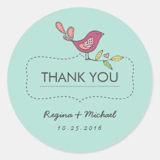 Sweet Bird Tree Wedding Favor Thank You Sticker