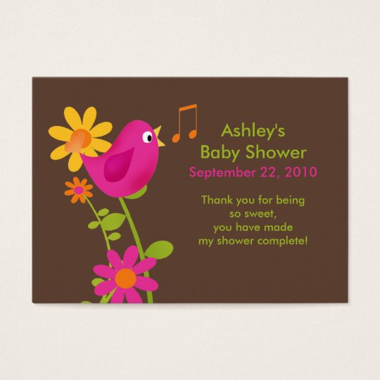 Sweet Birdie Baby Shower Favour Tags