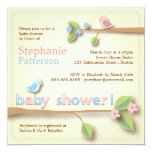 Sweet Birdie Pink & Blue Baby Shower Invitation