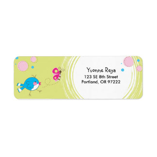 Sweet Birdie Return Address Label