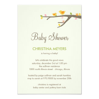 Sweet Birdies Baby Shower Invitation Cards
