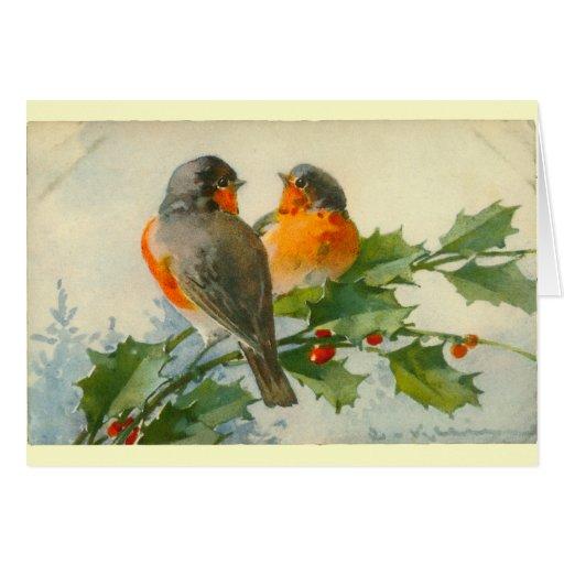 Sweet Birds Vintage Postcard Print Cards