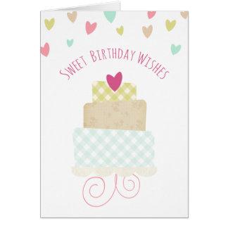 Sweet Birthday Wishes Greeting Card Greeting Card
