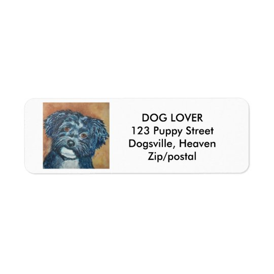 SWEET BLACK HAVANESE | RETURN ADDRESS LABELS