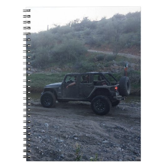 Sweet Black Jeep Spiral Notebook
