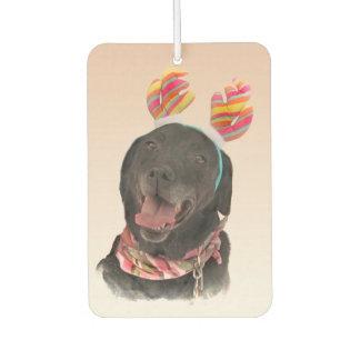 Sweet Black Labrador Retriever Dog Air Freshener