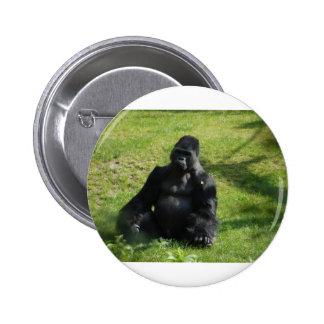 Sweet Black Monkey Gorilla Buttons