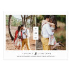 Sweet Black & White Modern Two-Photo Save the Date Postcard