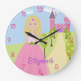 Sweet Blonde Princess Personalized Clock