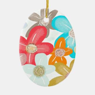 Sweet Blossom Ceramic Oval Decoration