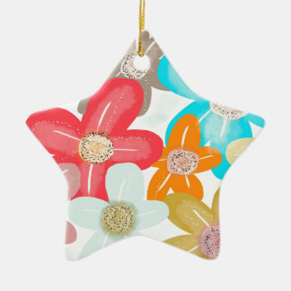 Sweet Blossom Ceramic Star Decoration