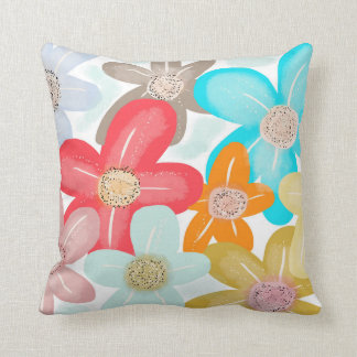 Sweet Blossom. Colourful floral print Throw Pillow
