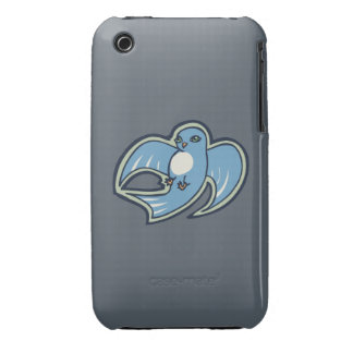 Sweet Blue And White Bird Ink Drawing Design iPhone 3 Case-Mate Case