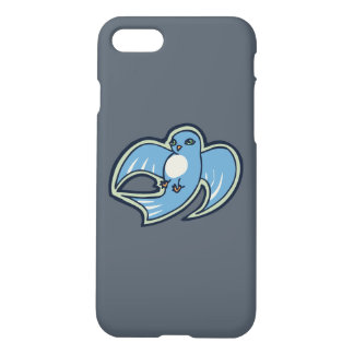 Sweet Blue And White Bird Ink Drawing Design iPhone 7 Case