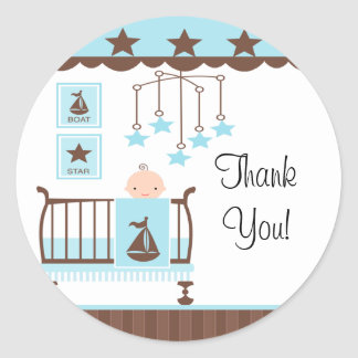 Sweet Blue Baby RoomThank You Sticker
