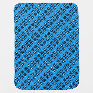 sweet blue cat vector illustration baby blanket