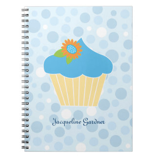 Sweet Blue Cupcake Notebook