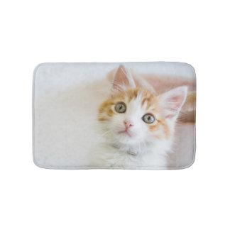 Sweet Blue Eyed Kitty Bath Mat