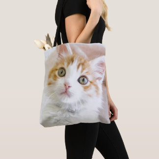 Sweet Blue Eyed Kitty Tote Bag