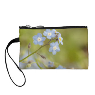 Sweet Blue Flowers Coin Purse