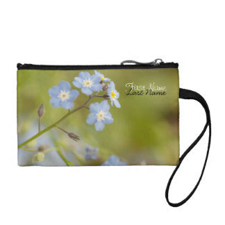 Sweet Blue Flowers; Customizable Coin Wallets